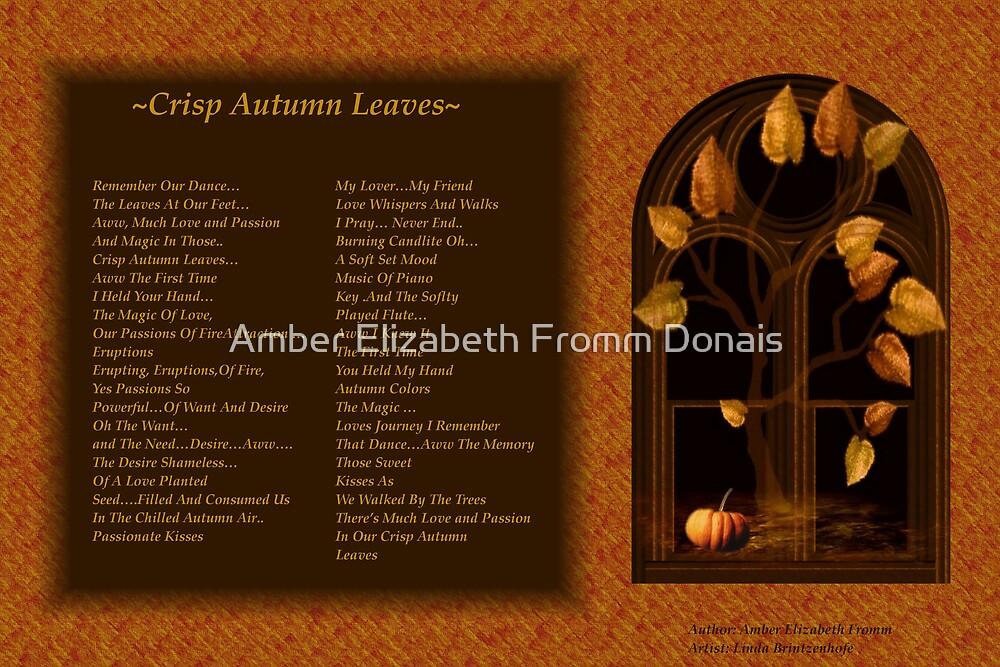 Our Crisp Autumn Leaves 3 by Amber Elizabeth Fromm Donais