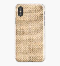 Rustic Burlap Custom Design iPhone Case