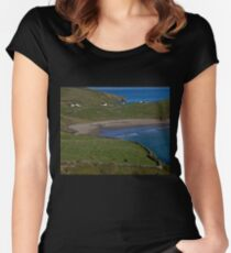 Traloar Beach, Muckross Head, Donegal Women's Fitted Scoop T-Shirt