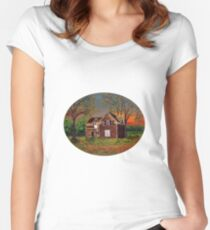 Old Farmhouse Women's Fitted Scoop T-Shirt