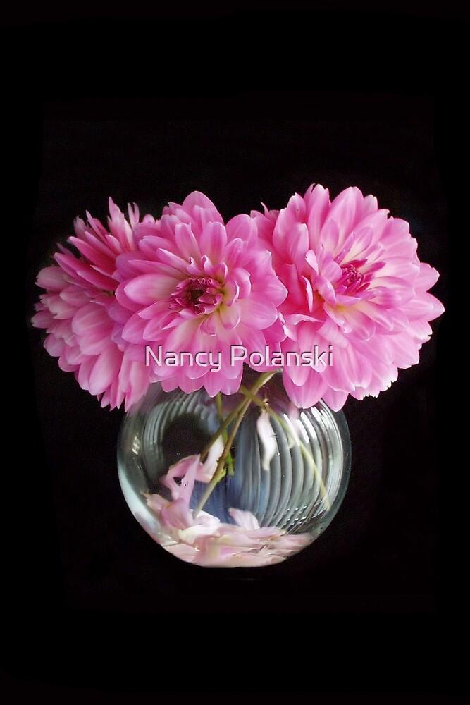 Pink Dahlias by Nancy Polanski