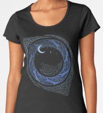 Mondschein-Runde Premium Rundhals-Shirt