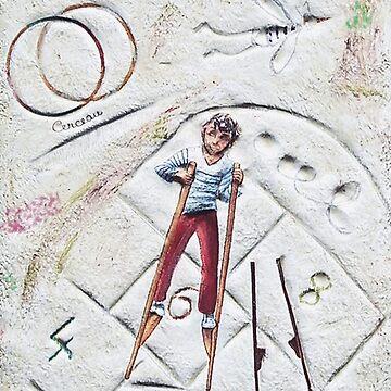""""""" Jeux de cour d'école d'Autrefois """"  My Creations Artistic Sculpture Relief fact Main   (c)(h) by Olao-Olavia / Okaio Création by caillaudolivier"""