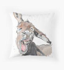 Donkey Delight Throw Pillow