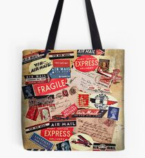 Via Air Mail Tote Bag