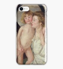 Mary Stevenson Cassatt (1844–1926), Mother and Child (The Oval Mirror) iPhone Case/Skin