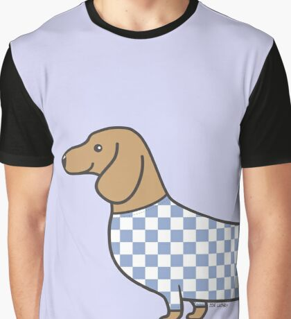 Dachshund in Check  Graphic T-Shirt