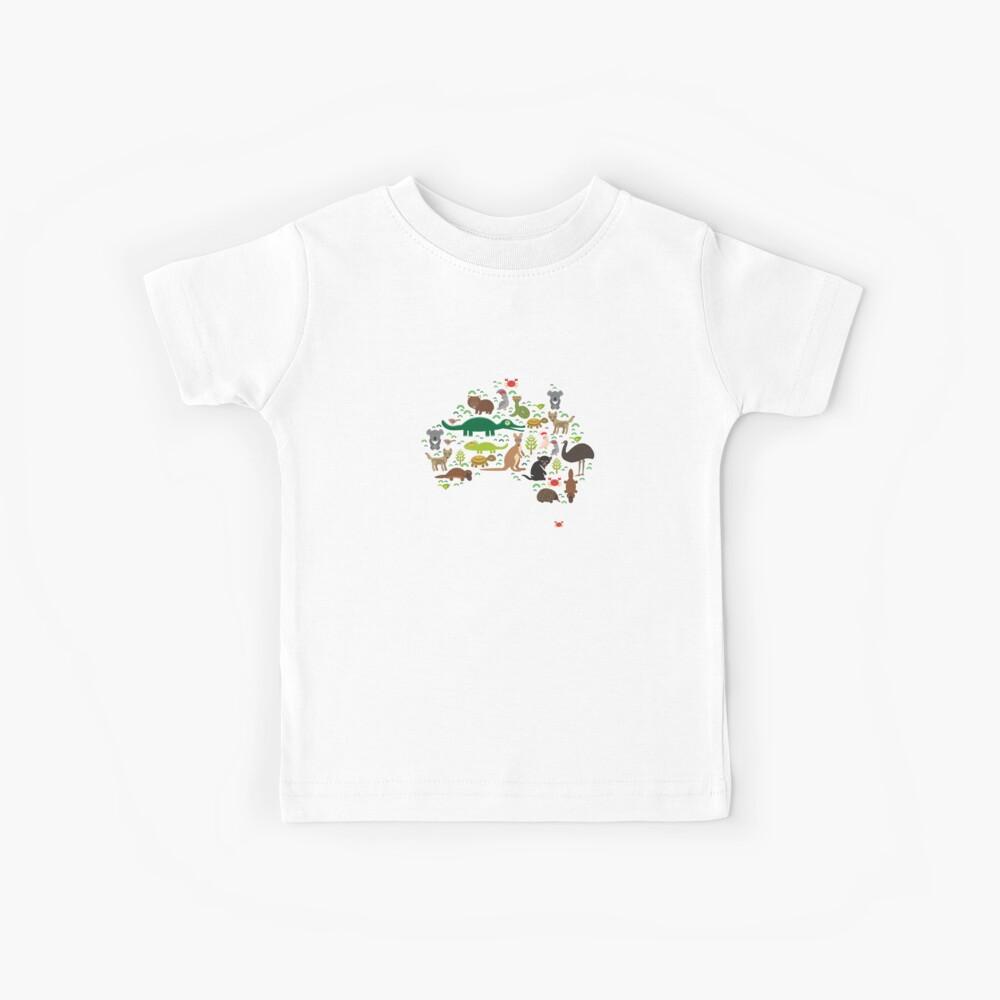 Australische Tierkarte Kinder T-Shirt