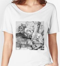 My dreams are wondrous, 2017, 50-50 cm, graphite crayon on paper Women's Relaxed Fit T-Shirt