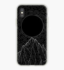 The dark sun over the mountains iPhone Case