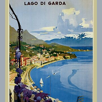Vintage Gardone Lake Garda Italian travel by aapshop