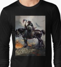 DarkWolf from Animated movie Fire and Ice Long Sleeve T-Shirt