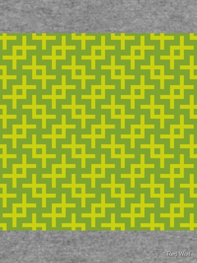 Geometric Pattern: Double Angle: Green by redwolfoz