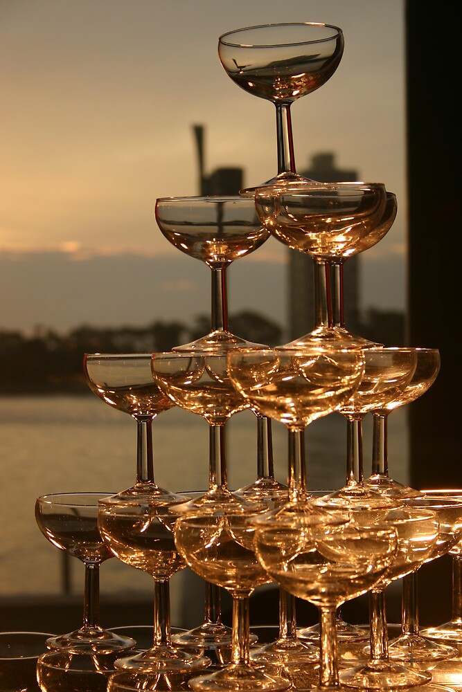 Champagne tower by Andrew  Mammoliti