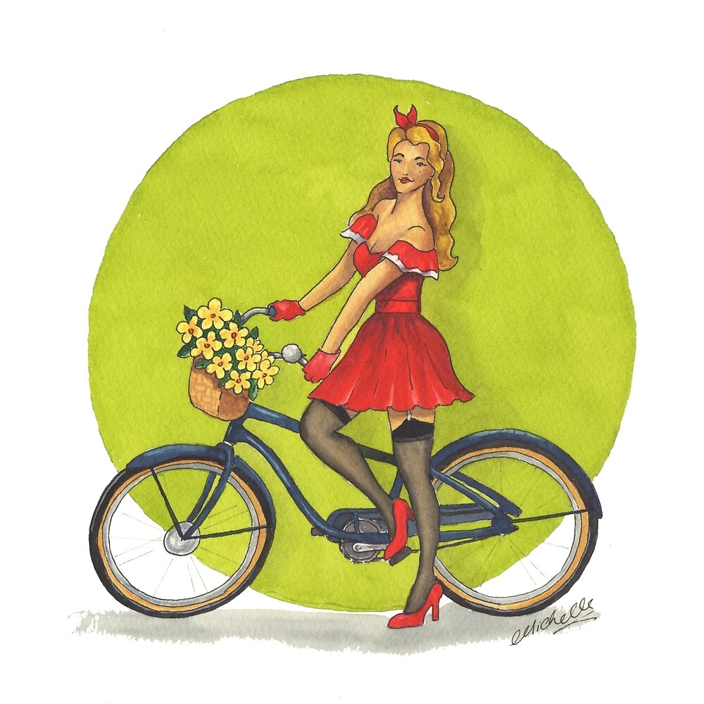 Cycle Pinup by Michelle Collier