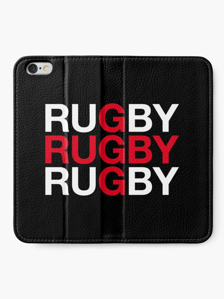 Alternative Ansicht von RUGBY iPhone Flip-Case