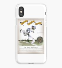 Vintage Football Blue White Stripes Right Winger iPhone Case/Skin