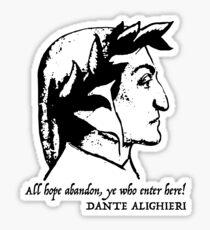 Dante Alighieri quote Sticker