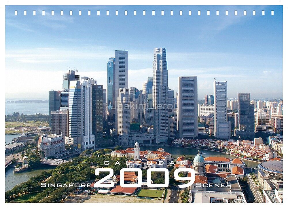 Singapore Scenes Calendar 2009 - on sale by Joakim Leroy