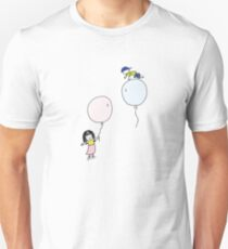 Boy And Girl Playing With Balloon Doodle T-Shirt
