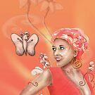 Peach, Flower, Curls by Shannon Kennedy