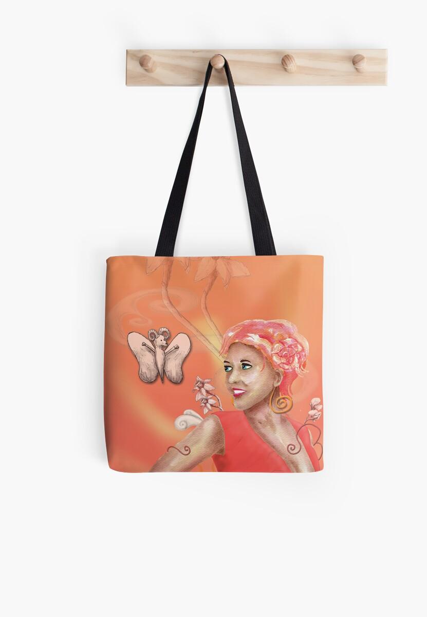 Peach, Flower, Curls by Shannon McLean