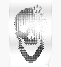 Skull Tetris Poster
