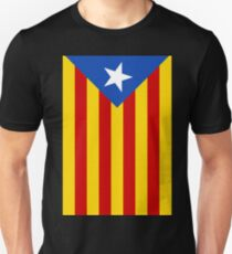 Catalonia Independence Flag-Vertical Unisex T-Shirt