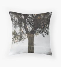 Reflection in Water On Asphalt Throw Pillow