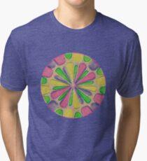 Abstract Flower Tri-blend T-Shirt