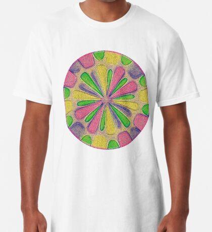 Abstract Flower Long T-Shirt