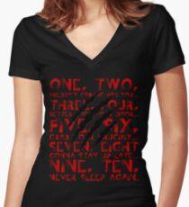 Never Sleep Again Women's Fitted V-Neck T-Shirt