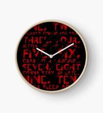 Never Sleep Again Clock