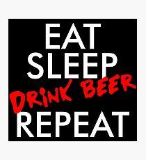 DRINK BEER Photographic Print