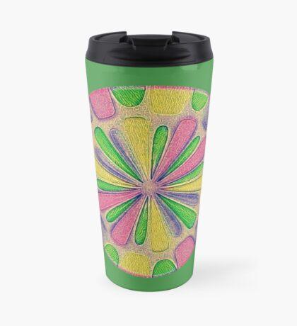 Abstract Flower Travel Mug