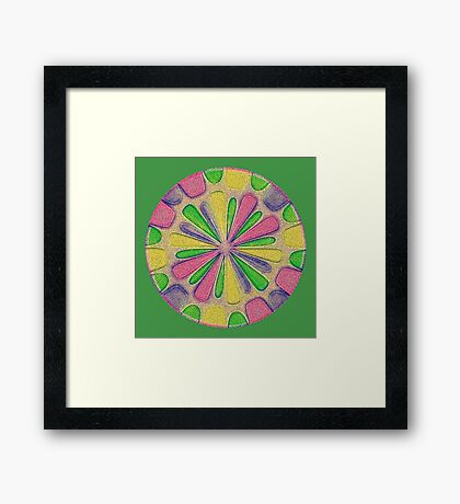 Abstract Flower Framed Print