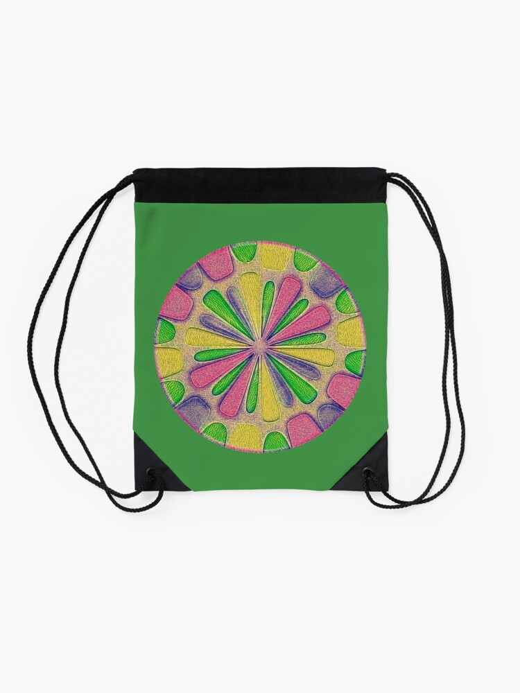 Alternate view of Abstract Flower Drawstring Bag