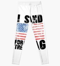 I Stand for the Flag America US Leggings