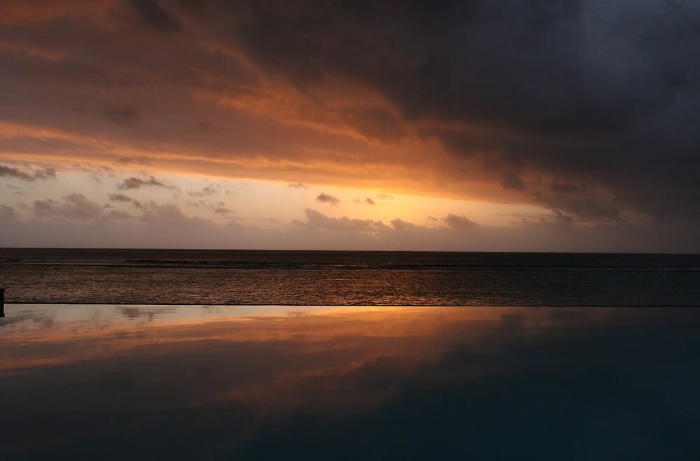 sunset reflection by kimtruong