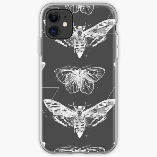 Geometric Moths - inverted iPhone Soft Case