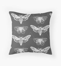 Geometric Moths - inverted Throw Pillow
