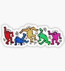 Keith Haring - Danse Multicolore Sticker