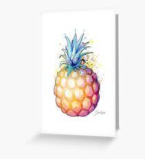 Fetter Ananas 2 Grußkarte