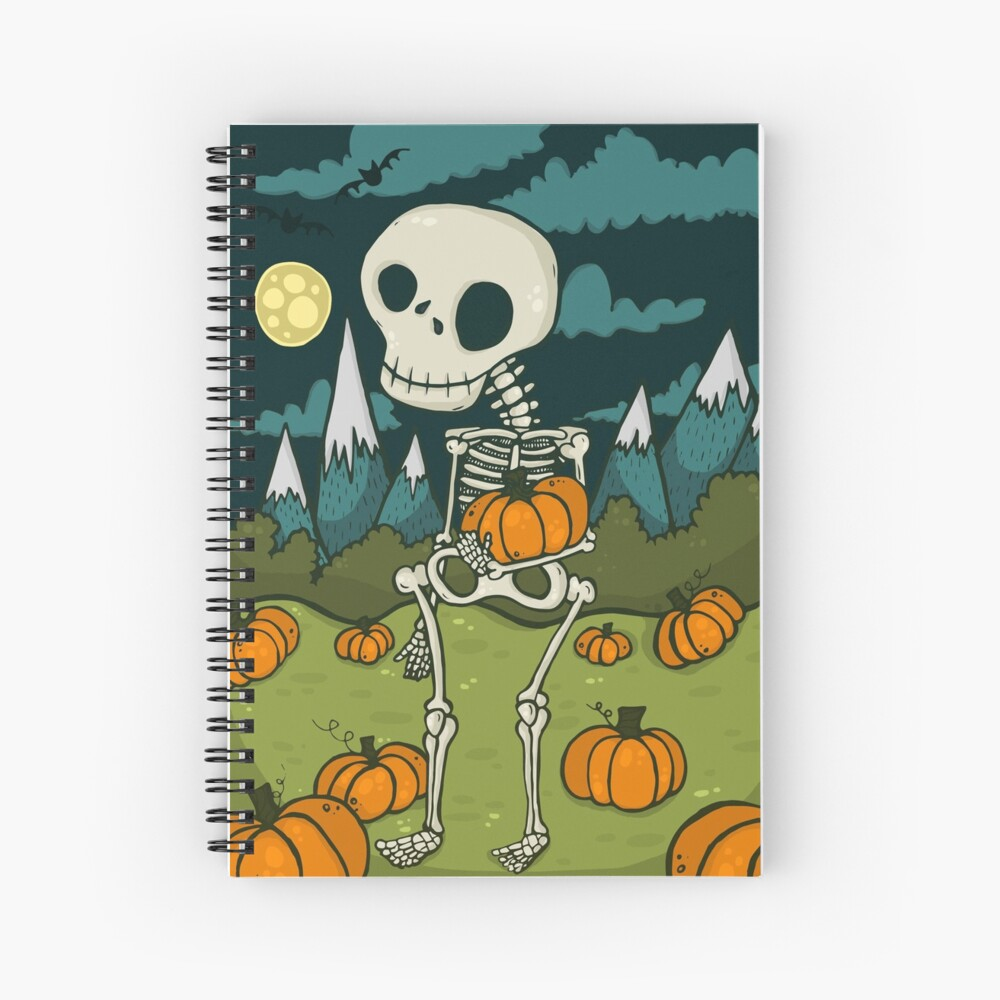 Skeleton Boy Spiral Notebook