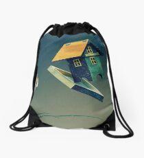 Flying Bird...house Drawstring Bag