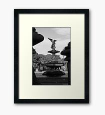Bethesda Fountain in Black and White, New York City Framed Print