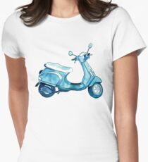 Scooter Away Women's Fitted T-Shirt