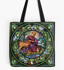 St. Francis of Assisi Stained Glass Tote Bag