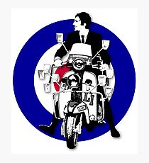Jimmy The Mod Target Photographic Print
