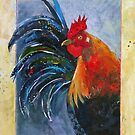 Calico Rooster by Lora Garcelon